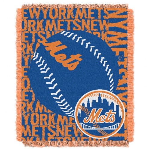 New York Mets Double Play Jacquard Throw Blanket