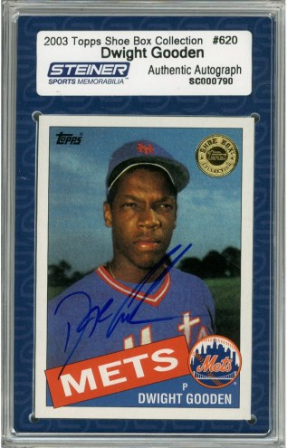 New York Mets Dwight Gooden Signed 2003 Topps Card