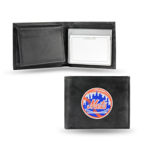 New York Mets Embroidered Leather Billfold Wallet