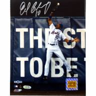 """New York Mets Endy Chavez NLCS GM 7 Robbing Home Run Signed 16"""" x 20"""" Photo"""
