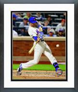 New York Mets Eric Campbell Action Framed Photo