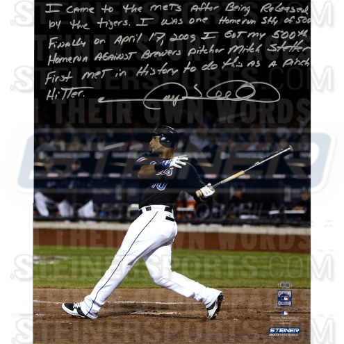 """New York Mets Gary Sheffield 500th Career HR Story Signed 16"""" x 20"""" Photo"""