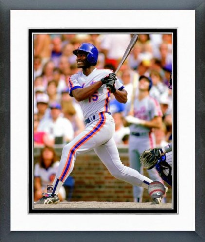 New York Mets George Foster 1986 Batting Action Framed Photo