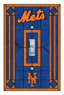 New York Mets Glass Single Light Switch Plate Cover