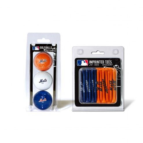 New York Mets Golf Ball & Tee Pack
