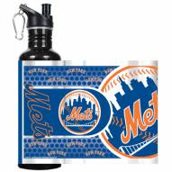 New York Mets Hi-Def Black Stainless Steel Water Bottle