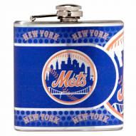 New York Mets Hi-Def Stainless Steel Flask