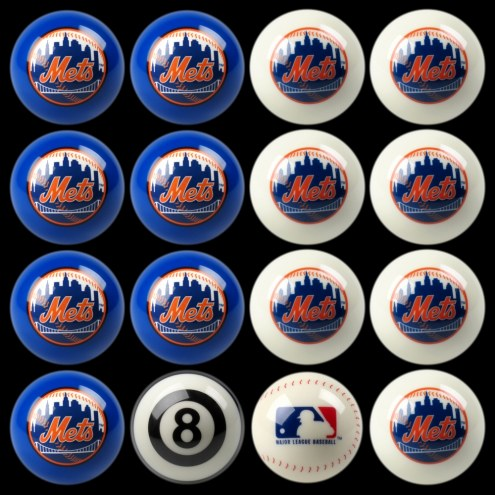 New York Mets MLB Home vs. Away Pool Ball Set