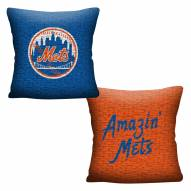 New York Mets Invert Woven Pillow