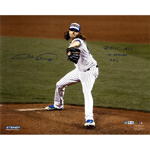 "New York Mets Jacob deGrom 2015 All-Star Game Pitching Signed 16"" x 20"" Photo"