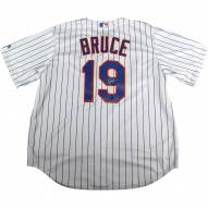 New York Mets Jay Bruce Signed Flexbase Replica Home White/Royal Jersey