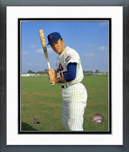 New York Mets Jerry Grote Posed with Bat Framed Photo