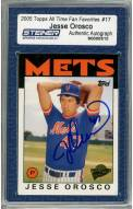 New York Mets Jesse Orosco Signed 2005 Topps Card All Time Fan Favorite