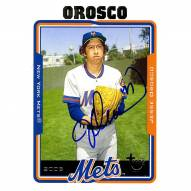New York Mets Jesse Orosco Signed 2005 Topps Card On field