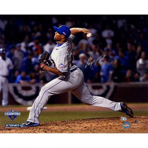 "New York Mets Jeurys Familia 9th Inning 2015 NLCS Game 4 Metallic Signed 16"" x 20"" Photo"