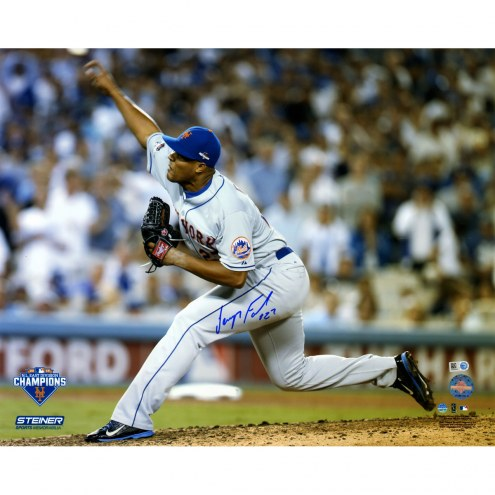 """New York Mets Jeurys Familia 9th Inning 2015 NLDS Game 5 Pitching Signed 16"""" x 20"""" Photo"""