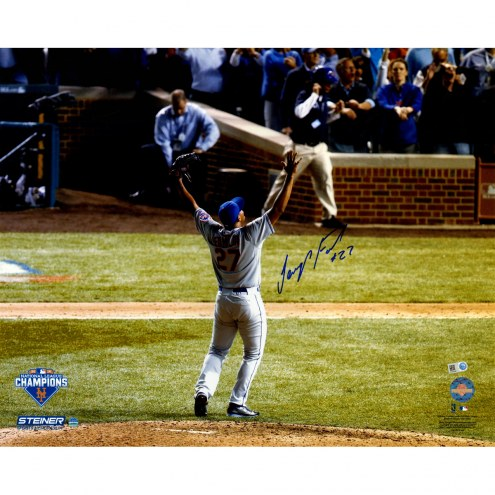 "New York Mets Jeurys Familia NLCS Celebration from Back Signed 16"" x 20"" Photo"
