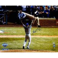 """New York Mets Jeurys Familia NLCS Celebration from Back Signed 16"""" x 20"""" Photo"""