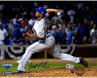 New York Mets Jeurys Familia Signed 9th Inning 2015 NLCS Game 4 8 x 10 Photo