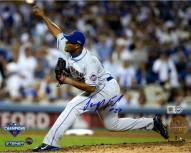 New York Mets Jeurys Familia Signed 9th Inning 2015 NLDS Game 5 Pitching 8 x 10 Photo