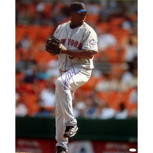 "New York Mets Jorge Julio Pitching Signed 16"" x 20"" Photo"