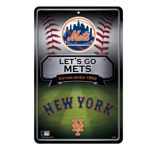 New York Mets Large Embossed Metal Wall Sign