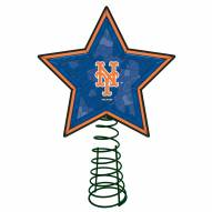 New York Mets Light Up Art Glass Mosaic Tree Topper