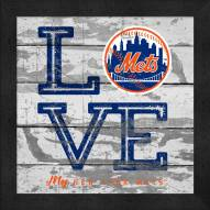 New York Mets Love My Team Square Wall Decor