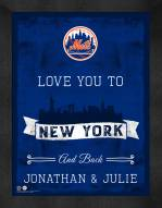 New York Mets Love You to and Back Framed Print