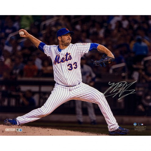 "New York Mets Matt Harvey Throwing Motion Metallic Signed 16"" x 20"" Photo"