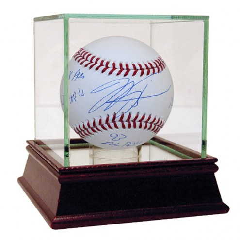 """New York Mets Mike Piazza Signed MLB Baseball w/ """"93 NL ROY 427 HR 308 AVG 12 x AS 1335 RBI's"""""""