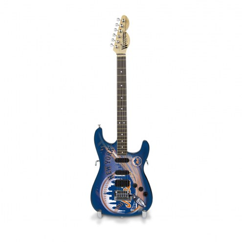 New York Mets Mini Replica Guitar