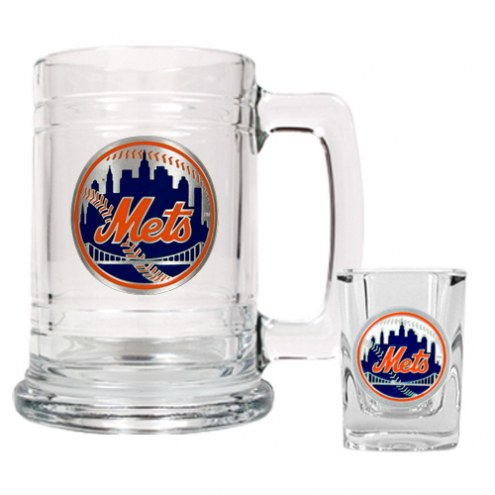 New York Mets MLB Boilermaker Set - Shot Glass & Tankard Mug