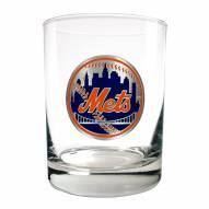 New York Mets MLB 2-Piece 14 Oz. Rocks Glass Set