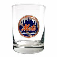New York Mets MLB 2-Piece 14 Oz. Rocks Glass Set