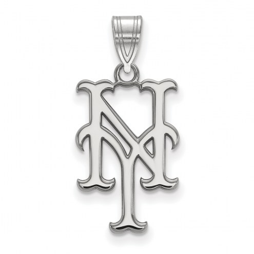 New York Mets Sterling Silver Large Pendant