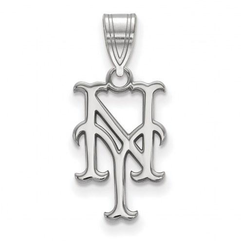 New York Mets Sterling Silver Medium Pendant