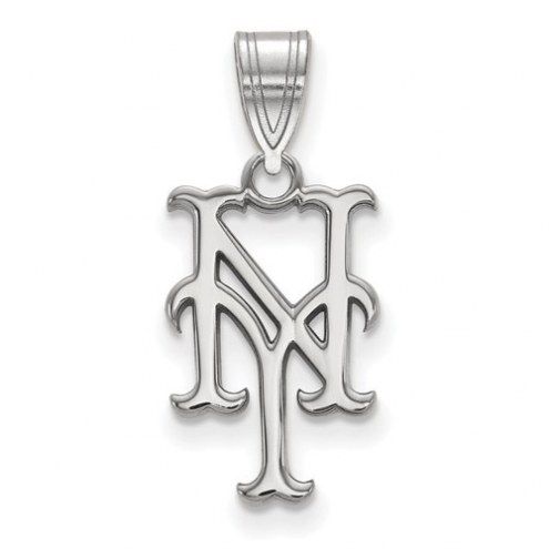 New York Mets Sterling Silver Medium Pendant