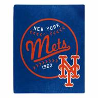 New York Mets Moonshot Raschel Throw Blanket