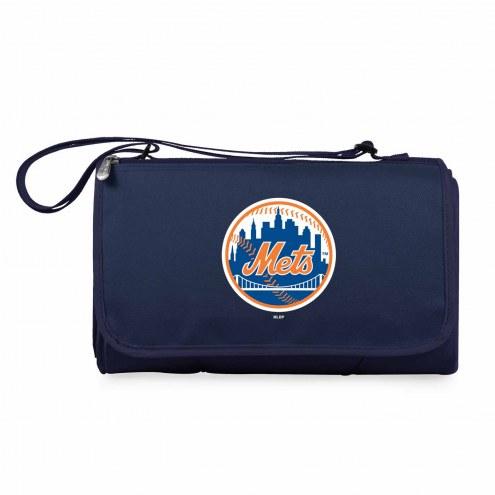 New York Mets Navy Blanket Tote