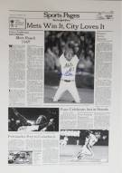 New York Mets New York Times Cover Reprint Signed by Jesse Orosco