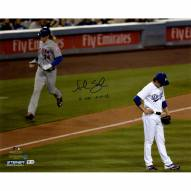 """New York Mets Noah Syndergaard 2nd Home Run vs. Dodgers w/ """"5/11/16 2 HR's"""" Signed 16"""" x 20"""" Photo"""