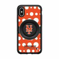 New York Mets OtterBox Symmetry Polka Dot PopSocket iPhone Case