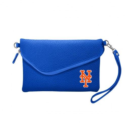 New York Mets Pebble Fold Over Purse