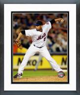 New York Mets Pedro Feliciano pitching Framed Photo