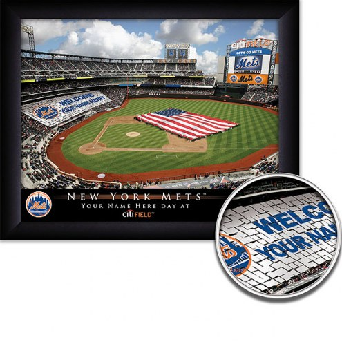New York Mets 11 x 14 Personalized Framed Stadium Print