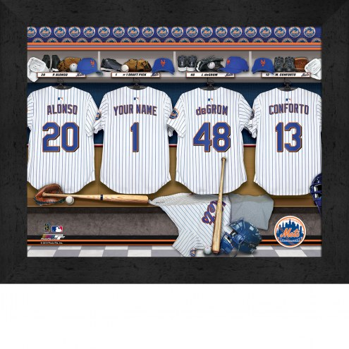 New York Mets  Personalized Locker Room 11 x 14 Framed Photograph