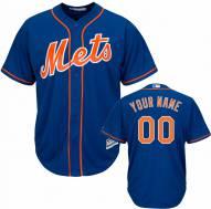 New York Mets Personalized Replica Royal Alternate Baseball Jersey