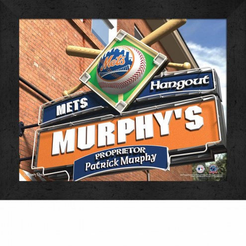 New York Mets 11 x 14 Personalized Framed Sports Pub Print