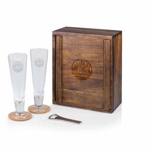 New York Mets Pilsner Beer Gift Set for 2